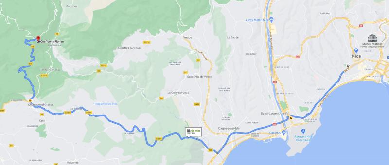 De Nice à baignade Pont du Loup