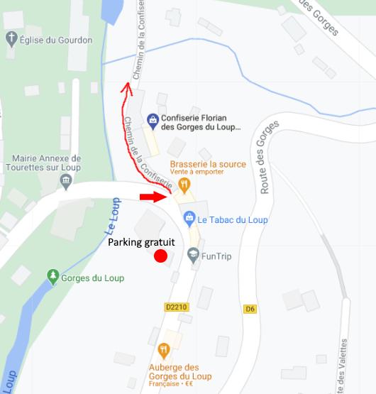 Baignade pont du Loup : accès