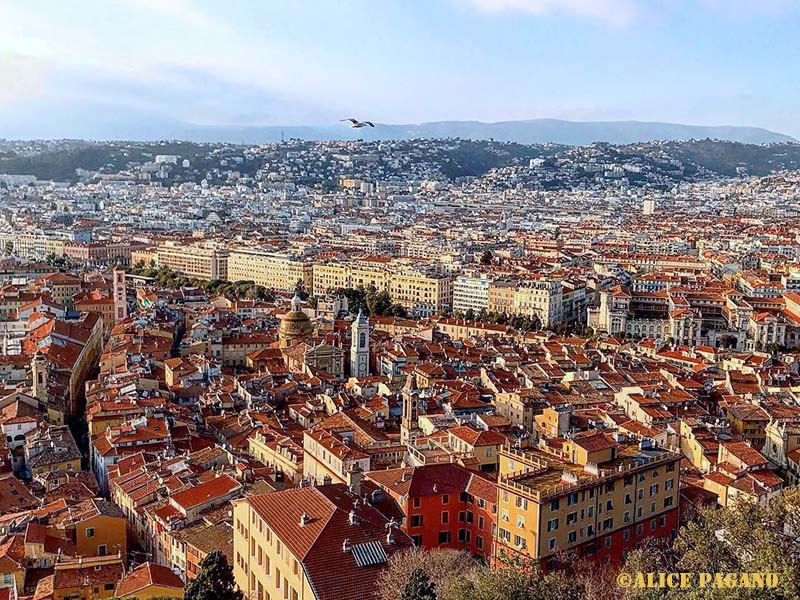Vue du château de Nice